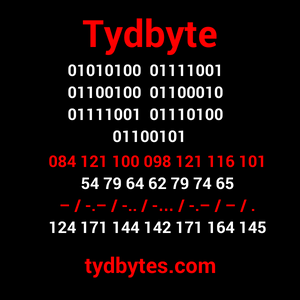 Tydbyte with codes